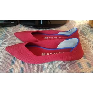 Rothy's red flats